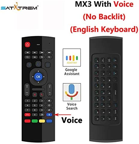 Color: Black Calvas New Style Black MX3 Backlit 2.4 G Wireless Air Mouse Remote Control for Android TV Box RF Learning Keyboard Consumer Electronics