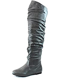 Amazon.com: Grey - Over-the-Knee / Boots: Clothing, Shoes & Jewelry