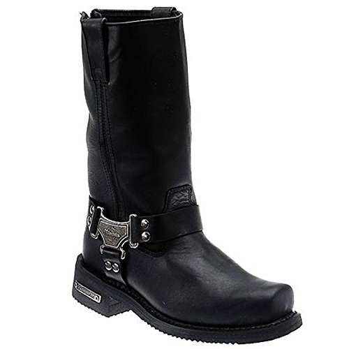 Clothing Company Classic Harness Leather Men's Motorcycle Boots (Black, Size 11.5D) ()
