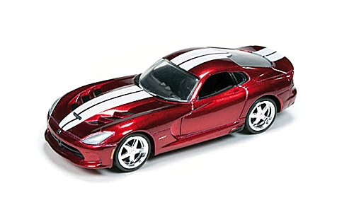 Dodge Viper SRT, metallic-dunkelrot/white, 2014, Model Car, Ready-made, car World 1:64