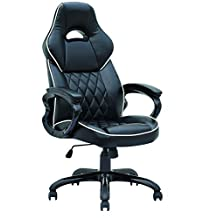 ViscoLogic® Series YF-2736 Gaming Racing Style Swivel Office Chair, BLACK