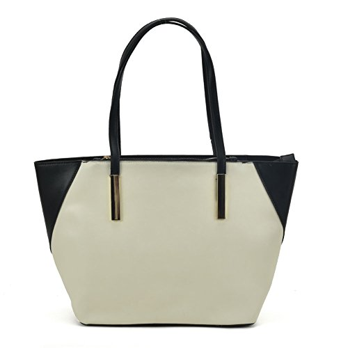 SALLY YOUNG Fashion Women Classic Large Shopper Bag Shoulder Bags for Work Travel Satchels for Girls White