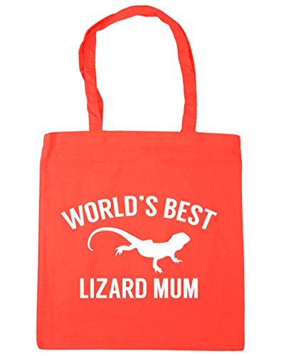 litres Gym Bag HippoWarehouse 10 World's lizard Tote Beach best Shopping x38cm Coral mum 42cm YYqRgw7