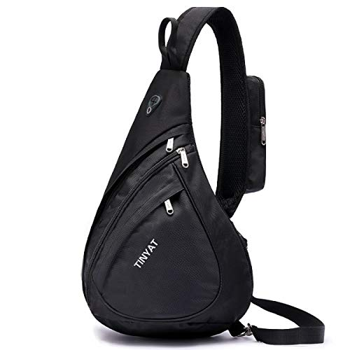 Agennix Store Men Bag Men Shoulder Bag Pack Waterproof Messenger Bag Black Travel Women Chest Bag for T509