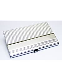 Business Name Card Holder Stainless Steel Case - Ripple Strips Style