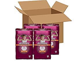 Allnites Youth Pants for Girls (12-Count), Pack of 4