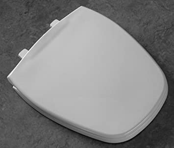 Eljer Emblem Toilet Seat. Bemis 1240205346 Eljer Emblem Plastic Elongated Toilet Seat Biscuit Linen