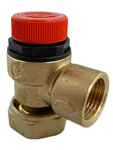 Altecnic 6 Bar Pressure Relief Valve with Loose Nut Connection - A311501CST