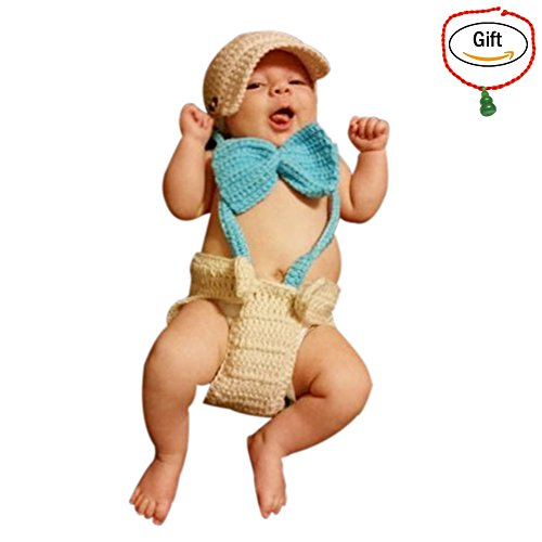 Baigeda Newborn Baby Boy Girl Clothes Handmade Warm Soft Cashmere Crochet Knit Outfit Set Unisex Baby Cute Infant Costume (Best Baby Costume)