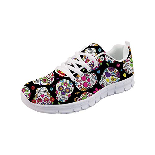 FOR U DESIGNS Women's Jogging Running Sneaker Suger Skull Go Easy Walking Casual Comfort Sports Running Shoes Size 38]()