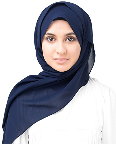 InEssence Mood Indigo Poly Georgette Scarf Women Girls Wrap Large Size Hijab