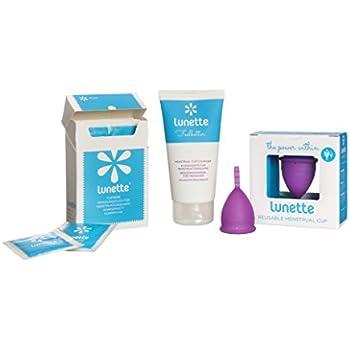 Lunette Menstrual Cup - Starter Kit - Violet Model 1 & Wash & Wipe