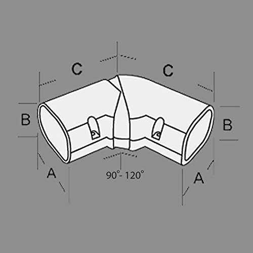 DuctlessAire 4'' line set cover 120-90 Degree horizontal adjustable elbow by Hide-A-Line (Image #1)