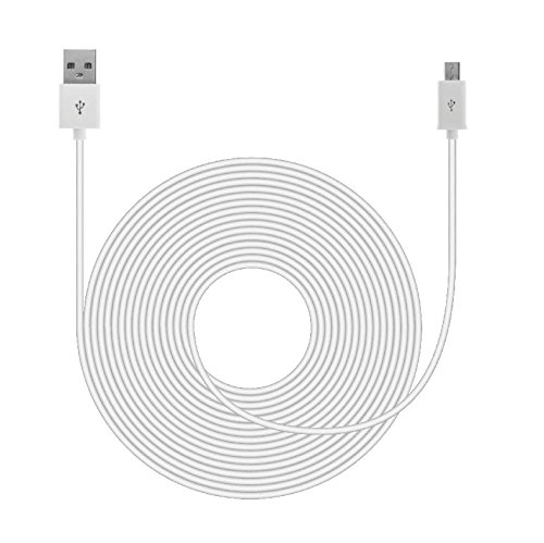 20ft USB Power Cable for Nest Cam, Yi Cam, Wyze Cam, etc.