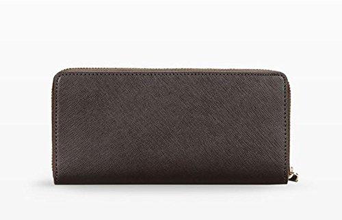Trussardi Levanto Woman Wallet Zip Around Saffiano Dark Brown