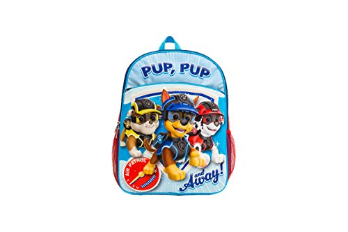 PAW Patrol Boys Backpack with Molded Eva Front, Blue/Red, One Size -