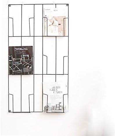 壁新聞ラック壁掛け棚多機能格子鉄本棚セパレーターフローティングユニットフレーム壁の装飾