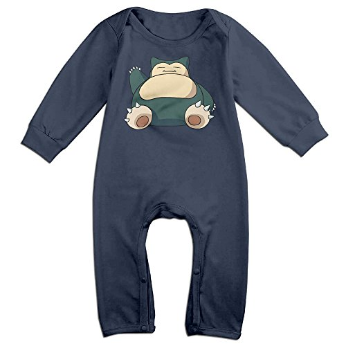 Price comparison product image HOHOE Newborn Babys Hog Snorlax Long Sleeve Bodysuit Outfits Navy 18 Months