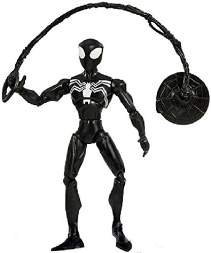 Spectacular Spider Man The Alien Costume (Spiderman Animated Action Figure - Super Articulated Black-Suited Spiderman)
