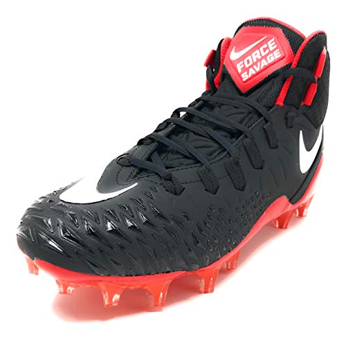 Nike Men's Force Savage Pro Football Cleats 13 Black/Red