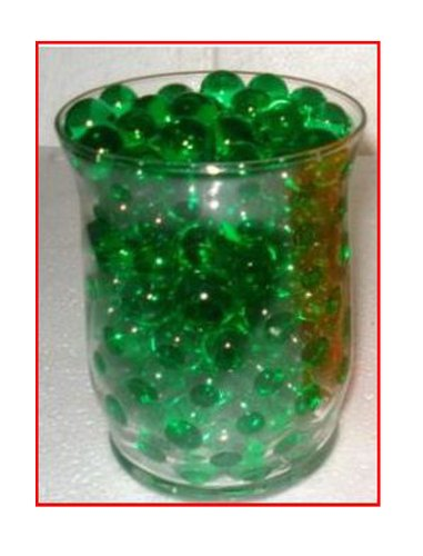 Water Beads for Wedding, Holiday, All Occasion Home Decor - 10 Gram Pack - Makes 1 Quart (4-5 Cups) (Green)]()
