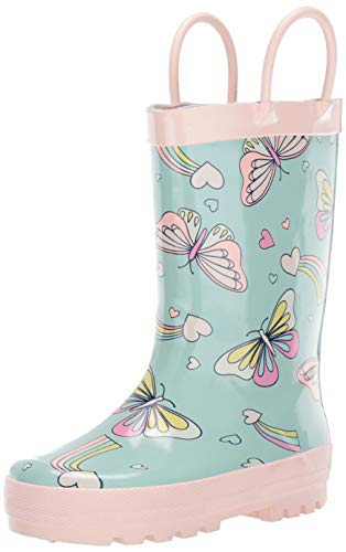 carter's Girl's Coco Rubber Rainboot Rain Boot, Blue, 8 M US Toddler