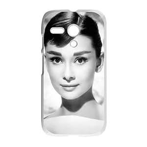 Motorola G Cell Phone Case White Audrey Hepburn yom