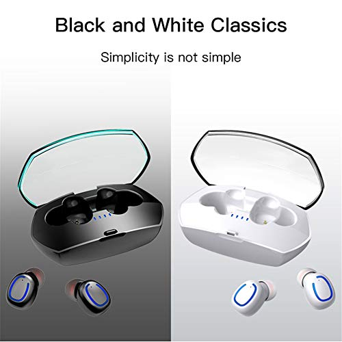 OMNFAS True Wireless Earbuds, Bluetooth 5.0 Headphones in-Ear Mini Headset, Deep Bass 3D Stereo Sound, Portable Charging Case, Noise Canceling Earphones for Sports Running