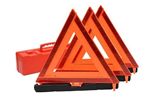 CJ Safety Reflective Emergency Warning Triangle - DOT Approved 3PK (1 Set (3 pcs)) ()