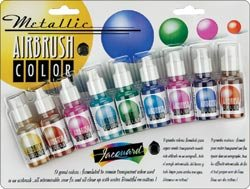 Jacquard Products 80095 Jacquard Metallic Airbrush Exciter Pack-8 Colors