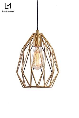 Brass Cage Pendant Light