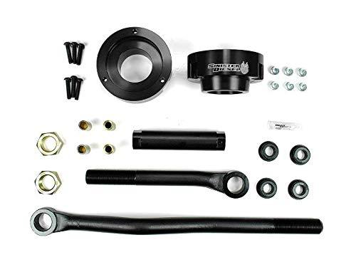Sinister Diesel Adjustable Track Bar and Leveling Kit for Dodge Cummins 2003-2012 4WD (Black)