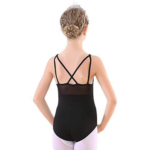 bef594b21261 Soudittur Girls Teens Ballet Tank Leotards Cotton Tops Cross Back for Dance  Gymnastics Mesh Dancewear Activewear