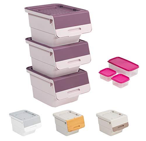 Mabel Home Storage Bins with Lid, Stackable Storage Bins, Se