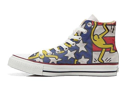 Converse Verwenden Schuhe All Hi Customized Tänze Flagge Handwerk Star personalisierte Schuhe HHrqw