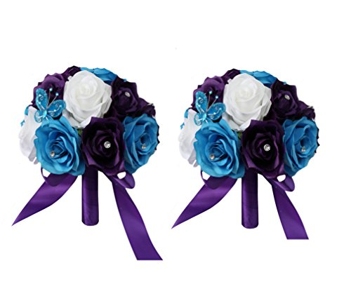 2 Wedding Bouquets - (8