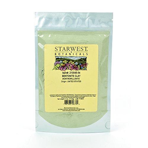 Starwest Botanicals Sodium Bentonite Clay Food Grade 4 Ounces
