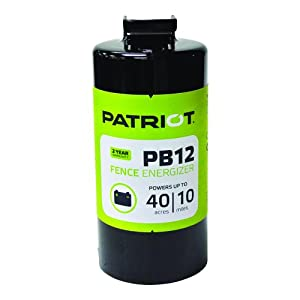 Patriot PB12 Battery Fence Energizer, 0.12 Joule