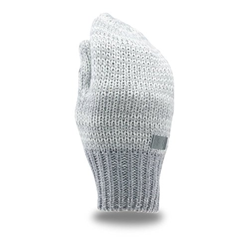 Under Armour Girls' Youth Shimmer Knit Mittens, Ivory /Silver, Y (Knit Kids Mitten)