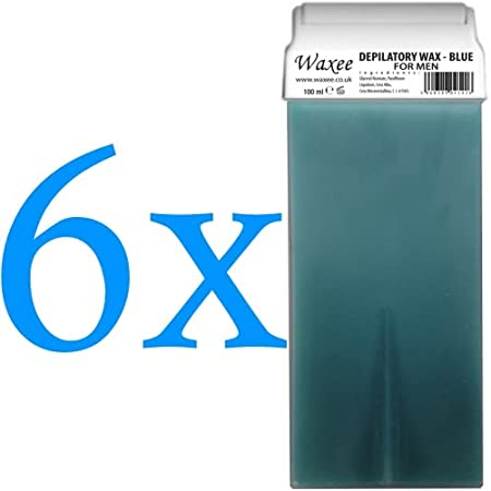 ROLL-ON WAX CARTRIDGE 100ml, roller, hair removal wax, depilatory, refill (6 x 100ml roll-on wax cartridge, Banana) Waxee