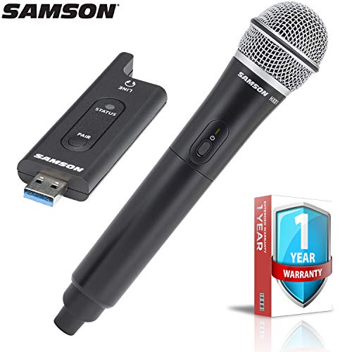 (Samson XPD2 Handheld USB Digital Wireless Microphone System with Extended Warranty Bundle)
