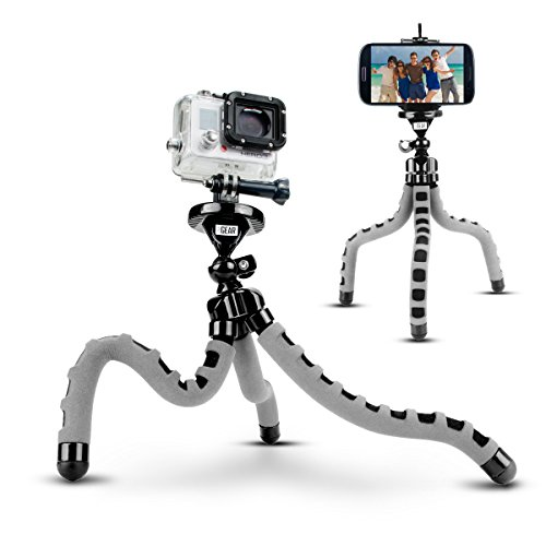 Action Camera Flexible Tripod by USA Gear w/360-Degree Articulating Ball Head, Bendable Wrapping Legs & Quick-Release Plate - Works w/GoPro HERO6 Black, HERO5 Black/Session, YI 4K, AKASO EK7000 & More (Fence Hero Mount Go Pro 4)