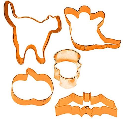 (Halloween 5 Piece Cookie Cutter Spooky Scary Fun Family Activity Party Food Table Wear Kitchen)