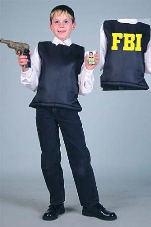 Niños Disfraz FBI Chaleco táctico (Talla 128): Amazon.es: Juguetes ...