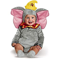 Disguise Baby Dumbo Infant Costume, Gray, (6-12 mths)
