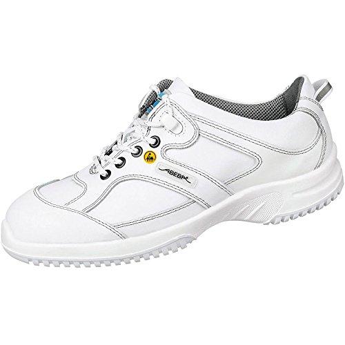 """Abeba dimensione 101,60 cm (40"""") 36770-40-15,24 cm (6"""") ESD-Scarpe da lavoro bassa, colore: bianco"""