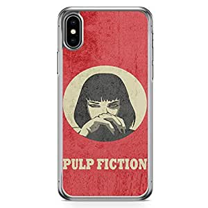 Loud Universe Mia Wallace of Pulp Fiction iPhone XS Case Retro Movie iPhone XS Cover with Transparent Edges