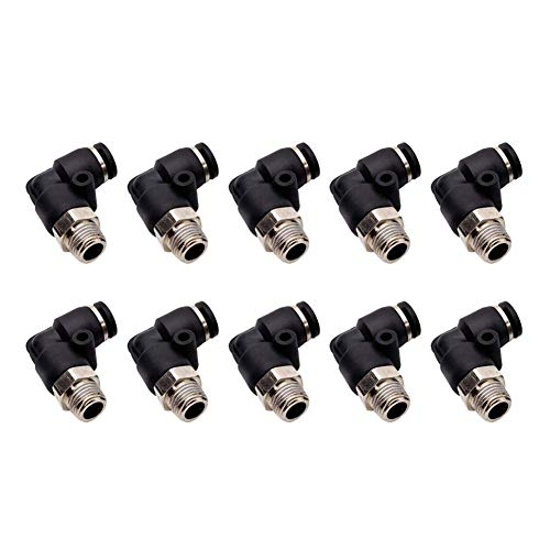 Male 1/8 Elbow - Beduan 10 Pcs BPL Push to Connect Air Fittings Male Elbow 8mm Tube OD x 1/8