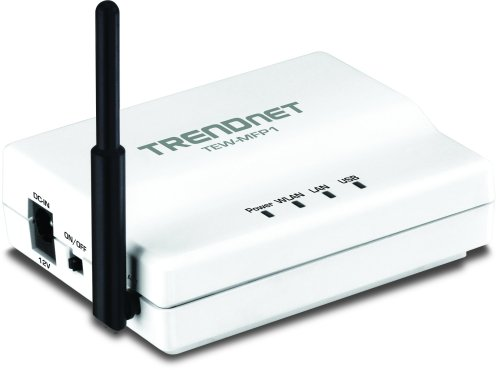 TRENDnet Wireless N 1-Port Multi-Function USB Print Server TEW-MFP1