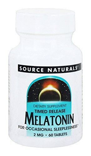 - Melatonin 2mg Timed Release Source Naturals, Inc. 60 Sustained Release Tablet
